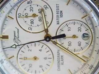ss JACQUES PREVARD Mens Chronograph ALARM Watch* MINT