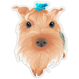 Silky Terrier Cute Puppy Dog Car Bumper Sticker Decal 5x3.5