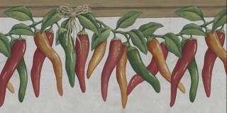 KITCHEN FRESH HOT CHILI PEPPER Wallpaper Border 5811940