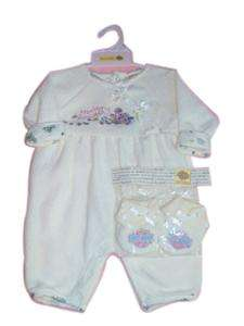 Harley Davidson Infant Girl Coverall Outfit Set Booties