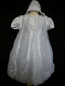 New Baby Girl Toddler Christening Baptism Formal Dress Gown size 18 30