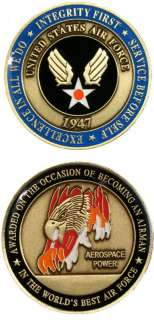 The United States Air Force New Airman Challenge Coin