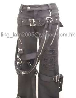 Japan Kera VISUAL kei PUNK Emo Buckle Pants Trousers