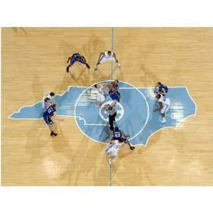 Carolina Tar Heels (UNC) 24 x 18 Basketball Opening Tip vs. Duke