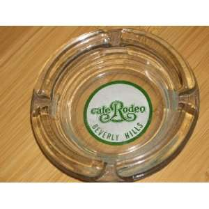 Vintage round clear glass ashtray CAFE RODEO BEVERLY HILLS