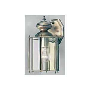 Light Wall Lantern Antique Solid Brass with Clear Beveled Glass Panels