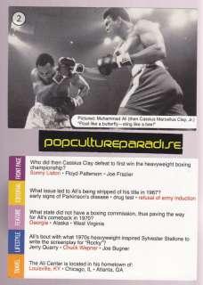 MUHAMMAD ALI vs JOE FRAZIER Boxing GAME QUIZ CARD