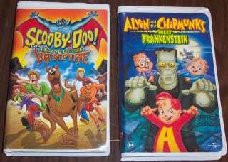 ALVIN & CHIPMUNKS Frankenstein & SCOOBY DOO Vampire VHS