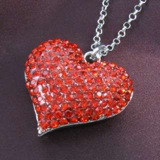 Day Ruby Red Love Heart Pendant BFF Best Friend Forever vd2