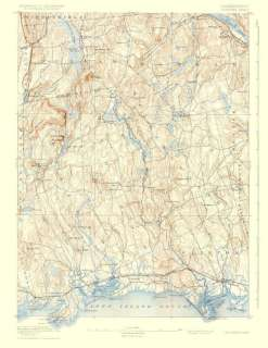 USGS TOPO MAP GUILFORD SHEET CONNECTICUT (CT) 1893 MOTP
