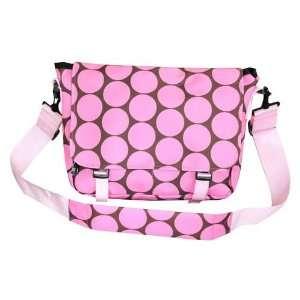 Unique Big Dots Pink Original Messenger Bag By Ashley