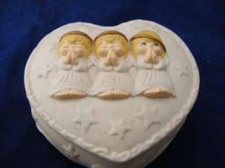 Hallmark Praying Angels Heart Shaped Trinket Box Porcelain Houston