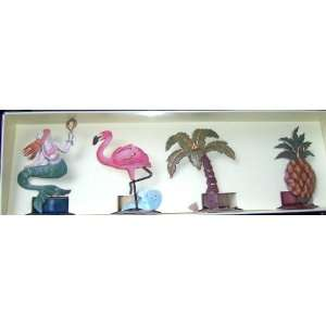 Pc. Set Mermaid, Flamingo, Palm Tree, Pineapple: Home & Kitchen