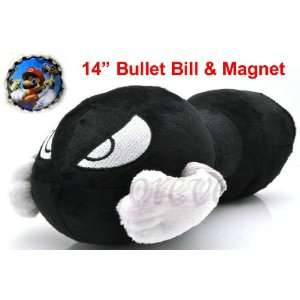 Hard to Find Nintendo Super Mario Brothers Large 14 Plush Bullet Bill