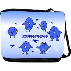 Rikki KnightTM Twitter Birds Messenger Bag   Book Bag