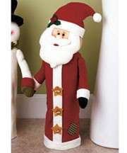 CHRISTMAS SANTA CLAUS BATHROOM TOILET PAPER ROLL WRAP OR COVER