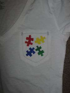 NEW AUTISM AWARENESS PUZZLE PIECE T SHIRT S M L XL XXL