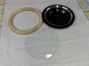 Clock Case,Round Ash Wood Frame,Flat Round Glass SAMPLER NOS for