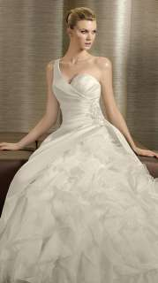 New Gorgeous Hand made Satin/tulle Wedding Dress Bridal Gown Size
