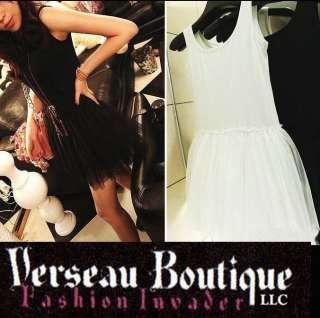 NEW Ballerina Style Tulle Mini Dress   Black or White