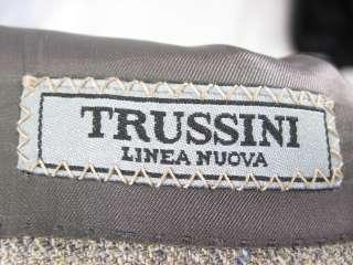 TRUSSINI Mens Gray Blue Checkered Blazer Jacket 52R