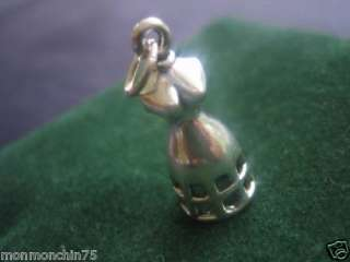 sterling silver dress form jump ring pendant charm P267