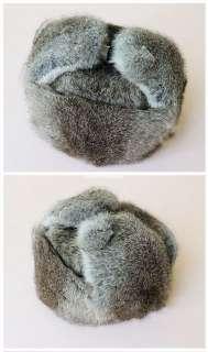 MENS WARM RABBIT FUR HAT TRUCK DRIVER HAT/BOMBER HAT/RUSSIA CAP