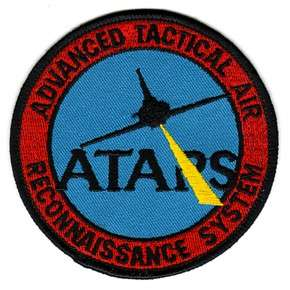 atars advanced tactical air reconnaissance system patch full color