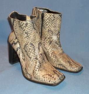 BOOTS, LADYS SNAKE SKIN FASHION BOOTS, SIZE 6 1/2 M.  COBRA HILLARD