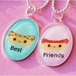Ketchup and Mustard Best Friend Friendship Necklace