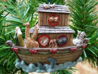 New Noahs Ark Boat Animals Christmas Tree Ornament