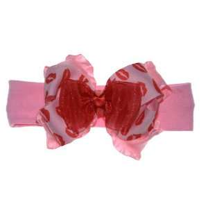 Valentines Day Couture Kisses Boutique Baby Cotton Headband Beauty