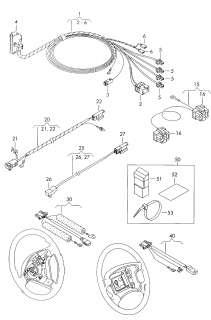 VW Passat 2001 Airbag Wiring Wire Harness 3B2971581R
