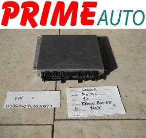 1992 92 Mercedes Benz 500SEL Engine Computer ECM ECU OE