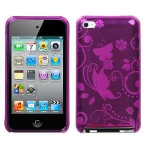 Apple iPod Touch 4 4G Hot Pink Secret Garden Candy Skin Case