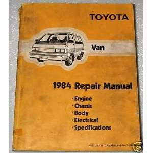 Toyota Van 1984 Repair Manual: Toyota: Books