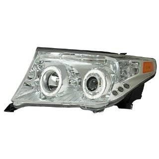 Anzo USA 111149 Toyota Land Cruiser Projector Halo Chrome Clear Amber