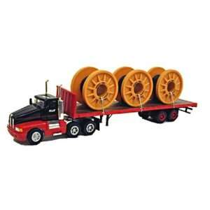 Kenworth Flatbed Semi Tractor Trailer w/Wire Cables  Toys & Games
