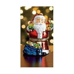 Mr. Christmas Porcelain Music Box   Santa