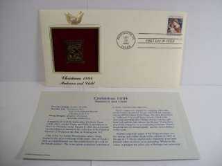 1994 Christmas Madonna and Child FDC 22K Gold Stamp