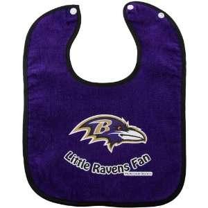 Baltimore Ravens 2 Tone Snap Baby Bib Baby