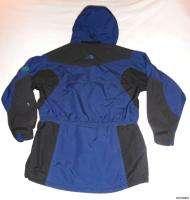 The North Face womens shell jacket 10 extreme light blue black ski