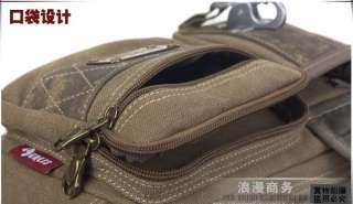 Thick Canvas Bumbag Hiking Travel Shoulder Fanny Pack Belt Waist Bags