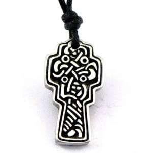 Irish Celtic Kingdom Cross Pewter Pendant Necklace