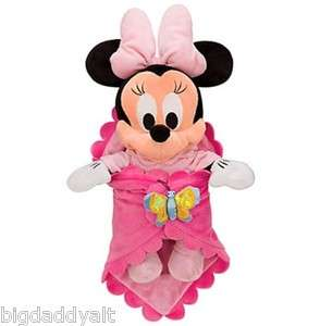 DISNEY WORLD MINNIE MOUSE BABIES BABY PLUSH DOLL and BLANKET