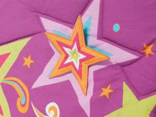 Baby Girls Pink Purple Stars Crib Bedding Nursery Set 6