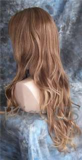 Wigs Auburn & Blonde mix Side Part Extra Long Wig US Seller