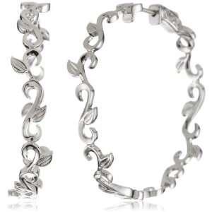 Katie Decker Ivy 1.5 Inch 18k White Gold Hoop Earrings