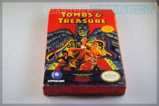 Tombs and & Treasure * BOX ONLY * Nintendo NES RARE