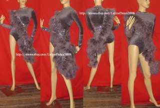 PEACOCK DRAG QUEEN CABARET FEATHER LATIN DRESS M47